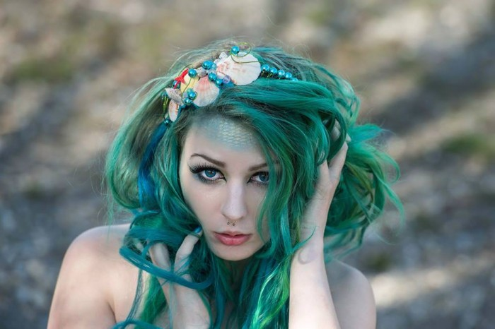 Scarlett Schwendinger won with her image Mermaid Make up