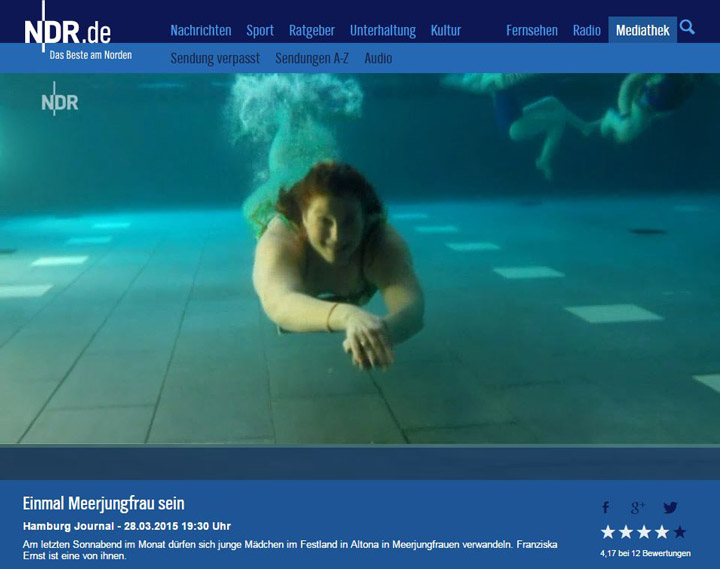NDR TV Be a mermaid