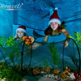 Two mermaids at Christmas