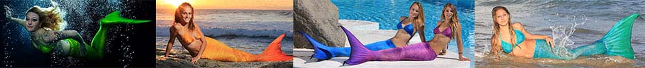 Mermaid tails for swimming. Many colors in stock