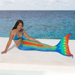 Mermaid tail Rainbow without monofin