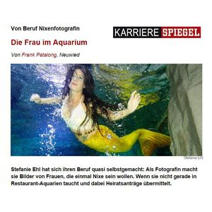 KarriereSPIEGEL: Mermaids photographer by profession