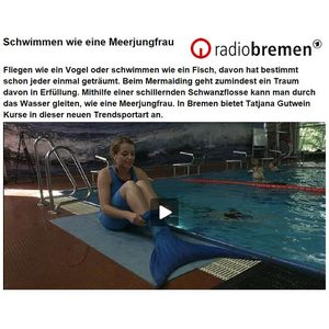 Radio Bremen: swimming like a mermaid