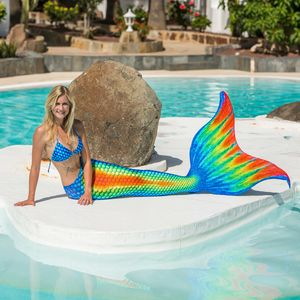 Mermaid tail Pro Rainbow without monofin