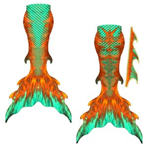 Mermaid tail Copper Fish