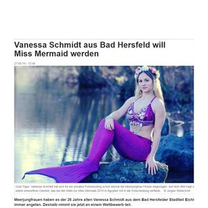 Vanessa Schmidt will become Miss Mermaid