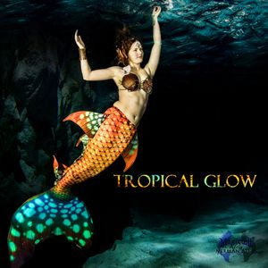 Mermaid tail Tropical Glow